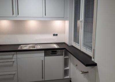 Küche Dekorplatte weiß