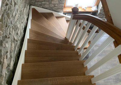 Treppe Räuchereiche und weißlack