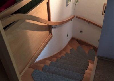 Treppe und Handlauf aus Buche